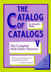 The Catalog of Catalogs V by Edward L. Palder