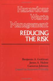 Cover of: Hazardous waste management
