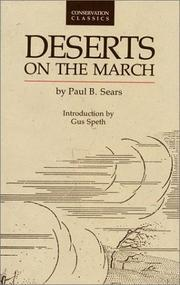 Deserts on the march by Paul Bigelow Sears