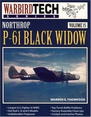 Cover of: Northrop P-61 Black Widow - WarbirdTech Volume 15 (WarbirdTech)