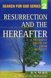Cover of: The Resurrection and the Hereafter | Said NursıÌ