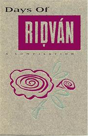 Cover of: Days of Ridvan