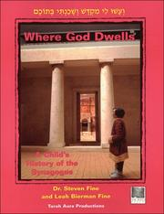 Cover of: Where God dwells | Steven Fine