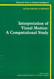 Cover of: Interpretation of visual motion