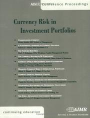 Cover of: Currency Risk in Investment Portfolios