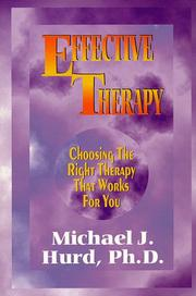 Cover of: Effective therapy | Michael J. Hurd