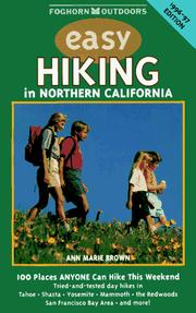 Cover of: Easy Hiking in Northern California, 1996-97