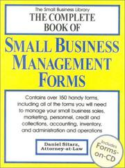 Cover of: The complete book of small business management forms