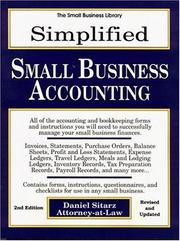 Cover of: Simplified small business accounting