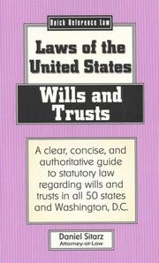 Cover of: Wills and trusts