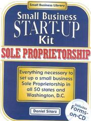 Cover of: Sole proprietorship: small business start-up kit