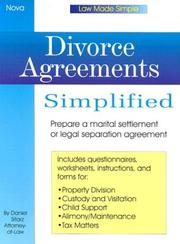 Cover of: Divorce agreements simplified