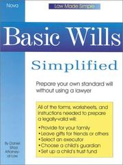 Cover of: Basic wills simplified