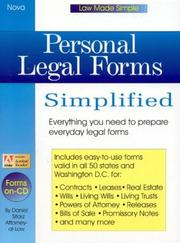 Cover of: Personal legal forms simplified
