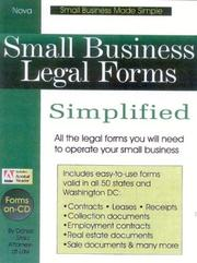 Cover of: Small business legal forms simplified