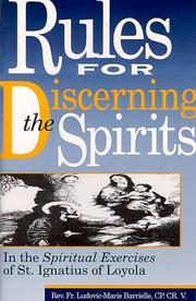Cover of: Rules for discerning the spirits