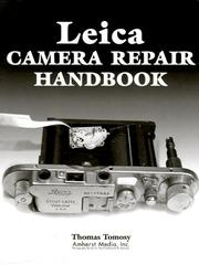 Cover of: Leica camera repair handbook