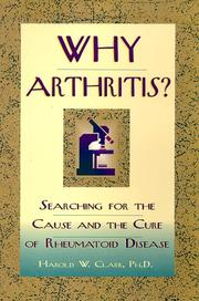 Cover of: Why arthritis?