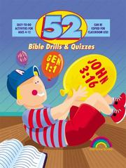 Cover of: 52 Bible Drills & Quizzes (52 Ways) | Nancy S. Williamson