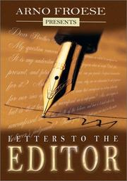 Cover of: Letters to the Editor