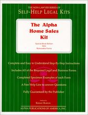Cover of: The Alpha Home Sales Kit | Kermit Burton