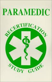 Cover of: Paramedic recertification study guide | Arthur R. Couvillon