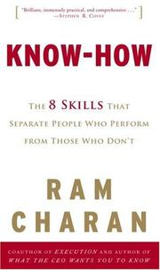 Cover of: Know-How: The 8 Skills That Separate People Who Perform from Those Who Don't