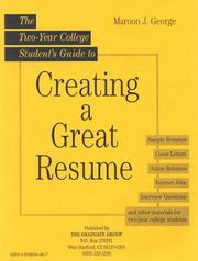 Cover of: Two Year College Student Guide to Creating a Great Resume