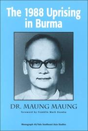Cover of: The 1988 Uprising in Burma