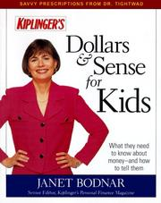 Cover of: Dollars & Sense for Kids | Janet Bodnar