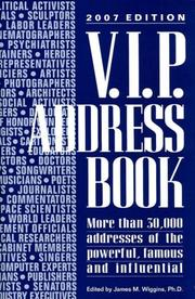 Cover of: V.i.p. Address Book 2007 (VIP Address Book)