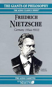 Cover of: Nietzsche |