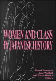 Cover of: Women and class in Japanese history | Hitomi Tonomura, Anne Walthall, Haruko Wakita