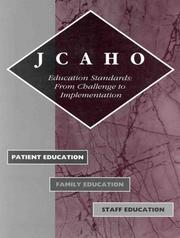 Cover of: JCAHO education standards