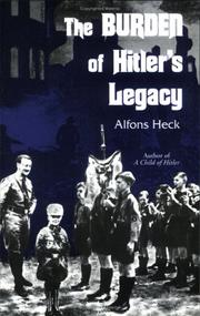Cover of: The burden of Hitler's legacy