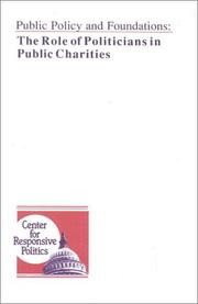 Cover of: Public policy and foundations | Ellen M. Freeberg