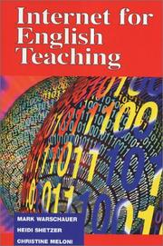 Cover of: Internet for English teaching