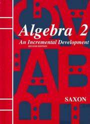 Cover of: Algebra 2