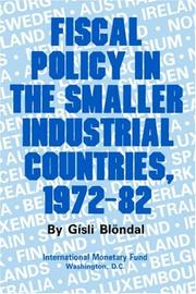 Cover of: Fiscal Policy in the Smaller Industrial Countries, 1972-82