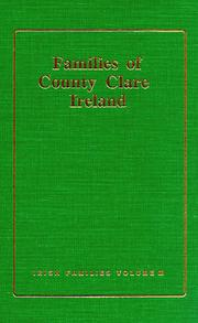 Cover of: families of County Clare, Ireland | Michael C. O