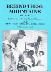 Cover of: Behind these mountains | Mona Leeson Vanek