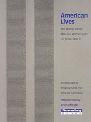 Cover of: American Lives: The Stories of the Men and Women Lost on September 11