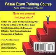 Cover of: Postal Exam 460 Training Course Audio CD