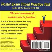 Cover of: Postal Exam 460 Timed Practice Test Audio CD