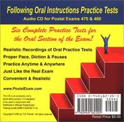 Cover of: Following Oral Instructions Practice Tests Audio CD for Postal Exam 460