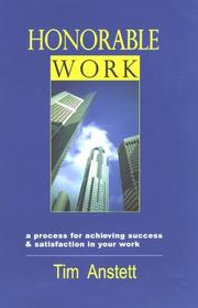 Cover of: Honorable work
