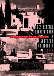 Cover of: Residential Architecture in Southern California. |