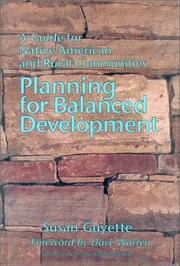 Cover of: Planning for balanced development