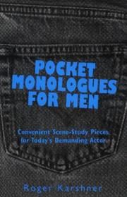 Cover of: Pocket monologues for men