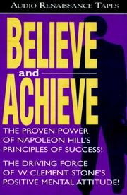 Cover of: Believe and Achieve